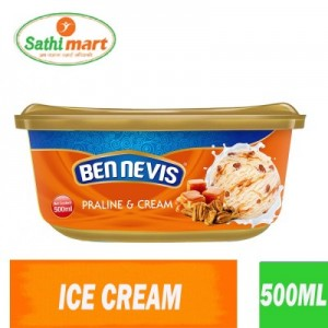 Ben Nevis Praline & Cream Flavoured Ice Cream, 500ml