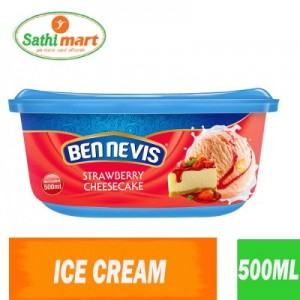 Ben Nevis Strawberry Cheese Cake Flavoured Ice Cream, 500ml