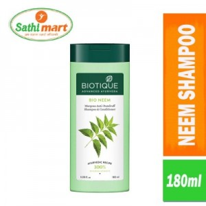 Biotique Bio Neem Margosa Anti Dandruff Shampoo & Conditioner, 180ml