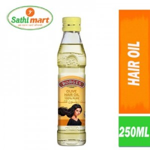 Borges Olive Hair Oil (100% Pure), 250ml