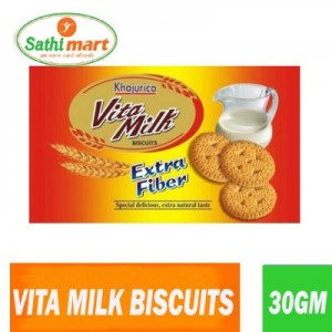 Khajurico Vita Milk Extra Fibre Biscuits, 30gm