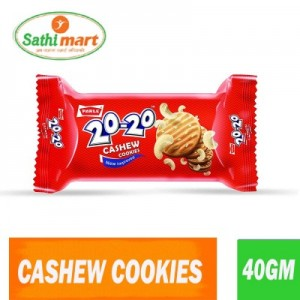 Parle 20-20 Cashew Butter Cookies, 40gm