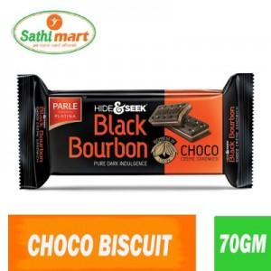 Parle Hide & Seek Black Bourbon Chocolate Creme Sandwich, 70gm