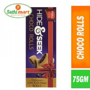 Parle Hide & Seek Delicious Choco Filled Rolls, 75gm