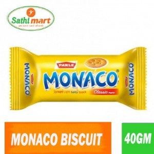 Parle Monaco Crispy Light Salty Snack Classic Biscuit, 40gm