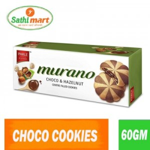 Parle Murano Chocolate & Hazelnut Centre Filled Cookies, 60gm