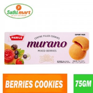 Parle Murano Mixed Berries Centre Filled Cookies, 75gm