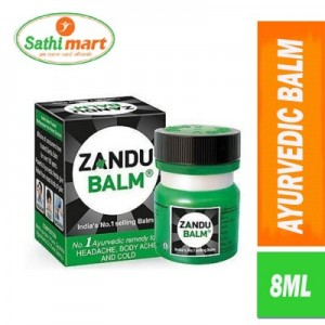 Zandu Ayurvedic Balm (Remedy For Ache & Cold), 8ml