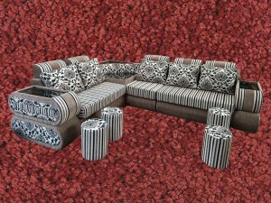 Double Sisa Handle L sofa