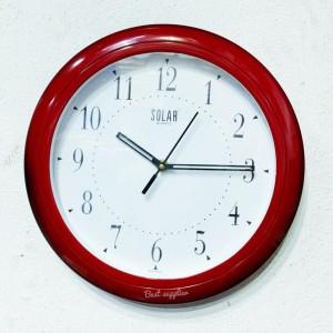 Circular Wooden Framed Wall Clock