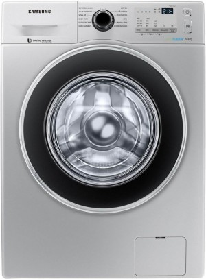 Samsung 8 kg Fully-Automatic Front Loading Washing Machine (WW80J4213GS/TL, Silver)