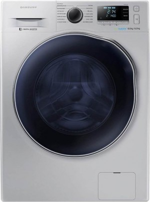 Samsung Fully Automatic Front Loading Washing Machine with Bubble Technology Silver WD80J6410AS - 8 Kg Washer With 6 Kg Dryer