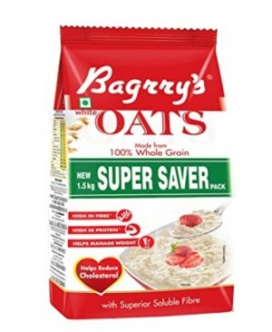Bagrry's White Oats, 1.5kg (Super Saver Pack)