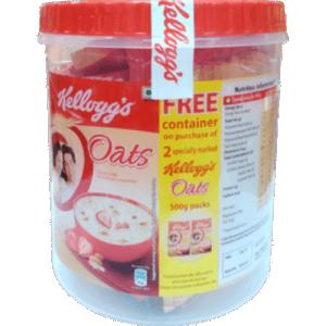 Kellogg's Oats 1kg (Free Jar)