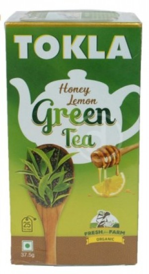 Tokla Honey Lemon Green Tea, 25 Bags