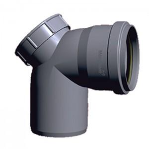 "PVC Ring-Fit Bend 87.5° (With Door) 4"""