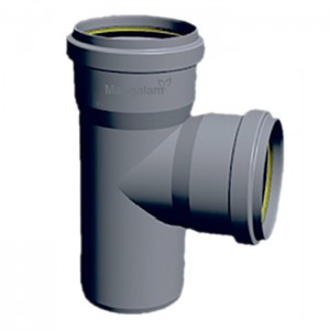 "PVC Ring-Fit Single Tee 4"""