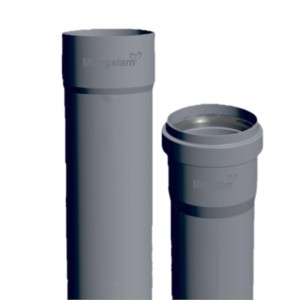 SWR PVC Double Socket with R/R (3m) Type B 160mm